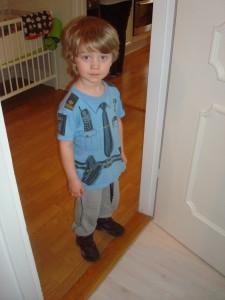 BusArvid hade massa coola grejer på sin polisuniform!