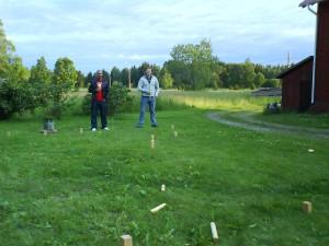 Midsommar med Åsa och Jonas (M till vänster och Jonas till höger).