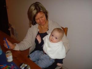 Mormor och Simpan.