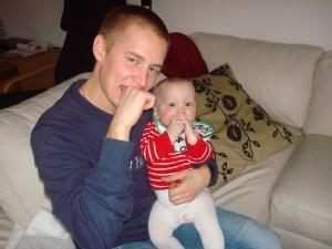 Födelsedagsbarnet och Wimpan...som fyller 25, faktiskt..inte 5!