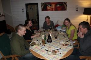 Och vi firade ett lugnt nyår här hemma med massa mat och sällskapsspel!